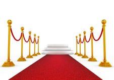 Het podium van de winnaar met rood tapijt Royalty-vrije Stock Fotografie