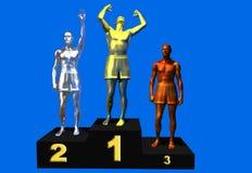 Het podium van winnaars royalty-vrije illustratie