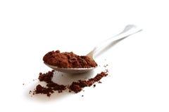 Het poeder van de cacao Royalty-vrije Stock Afbeeldingen