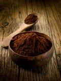 Het poeder van de cacao royalty-vrije stock afbeelding