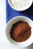Het poeder van de cacao Royalty-vrije Stock Foto's