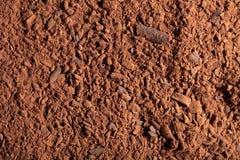 Het poeder van de cacao met reepjes van chocolade Stock Foto
