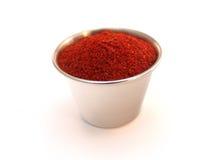 Het poeder van de Spaanse peper stock afbeeldingen