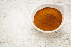 Het poeder van het mangostanfruit stock afbeelding