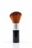 Het poederrouge van de make-upborstel royalty-vrije stock afbeeldingen