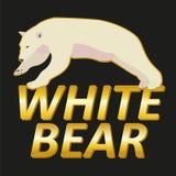Het polaire wit draagt embleem vectorontwerp Stock Afbeelding