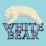 Het polaire wit draagt embleem vectorontwerp Stock Afbeeldingen
