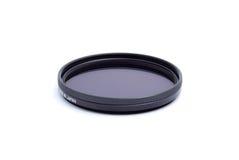 Het polariseren van optische filter op wit stock afbeeldingen