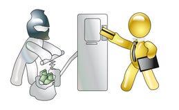Het pompen uit geld van ATMS Royalty-vrije Illustratie
