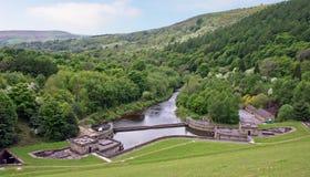 Het Pompstation van de Dam van Ladybower Royalty-vrije Stock Foto's