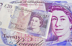 Het pond Sterling: inflatoire druk! Stock Foto's