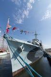 Het Poolse schip Gdynia van het torpedojagerorp Blyskawica museum Stock Fotografie