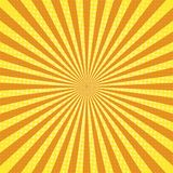 Het pop-art retro achtergrond van zonstralen vector illustratie