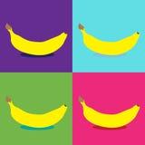 Het pop-art van de banaan Stock Foto's