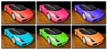 Het pop-art van sportwagens Stock Foto's