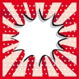 Het pop-artwolk van de sneeuwbal op een uitstekende grunge sticker als achtergrond stock illustratie