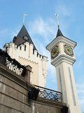 Het poppentheaterkasteel van mooie mooie fee magische kinderen royalty-vrije stock foto's