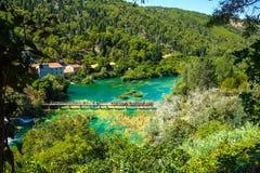Het populaire nationale park van Krka in Kroatië Royalty-vrije Stock Foto