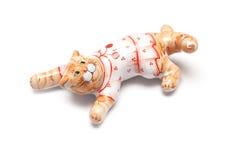 Het porselein van de kat Stock Foto's