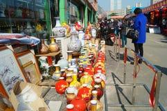 Het porseleinverkoop van China Jingdezhen Stock Afbeelding