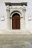 Het portaal van de kathedraal Stock Foto's
