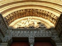 Het portaal van heilige Trophime, Arles (Frankrijk) Stock Foto's
