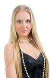 Het portret jong mooi blond meisje van de close-up. Royalty-vrije Stock Afbeeldingen