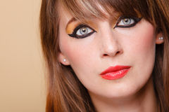 Het portret oriënteert meisje met make-up Royalty-vrije Stock Foto