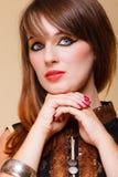 Het portret oriënteert meisje met make-up Royalty-vrije Stock Fotografie