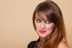 Het portret oriënteert meisje met make-up Stock Afbeeldingen
