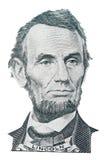 Het portret van Abraham Lincoln stock foto's