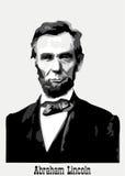 Het portret van Abraham Lincoln stock illustratie