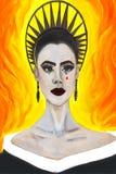 Het portret van actrice Lily Collins bij Ontmoete Gal toont 2018 stock illustratie