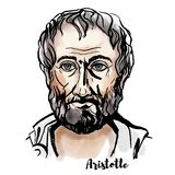 Het Portret van Aristoteles vector illustratie