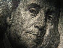 Het portret van Benjamin Franklin wordt afgeschilderd op de bankbiljetten van $ 100 Royalty-vrije Stock Afbeeldingen