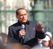 Het portret van Berlusconi Stock Fotografie