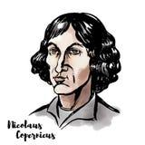 Het portret van Copernicus van Nicolaus royalty-vrije illustratie