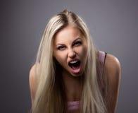 Het portret van cryed jonge vrouw Royalty-vrije Stock Foto's