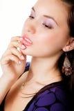 Het portret van de aantrekkingskracht van elegante sensuele jonge vrouw Stock Foto