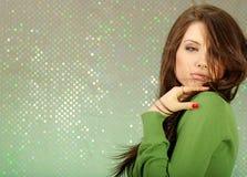 Het Portret van de aantrekkingskracht van sexy meisje royalty-vrije stock afbeeldingen