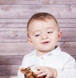 Het portret van de babyjongen Royalty-vrije Stock Afbeelding