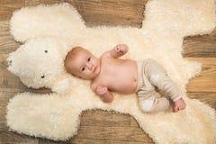 Het portret van de babyjongen Stock Foto