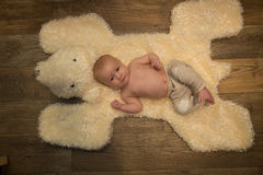 Het portret van de babyjongen Royalty-vrije Stock Foto