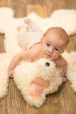 Het portret van de babyjongen Royalty-vrije Stock Foto's