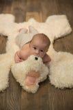 Het portret van de babyjongen Stock Foto's