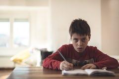 Het portret van de basisschooljongen Stock Foto