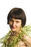 Het portret van de Beautyfulvrouw Stock Afbeeldingen