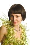Het portret van de Beautyfulvrouw Stock Foto