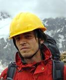 Het portret van de bergbeklimmer Stock Afbeelding