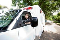 Het Portret van de Bestuurder van de ziekenwagen royalty-vrije stock foto